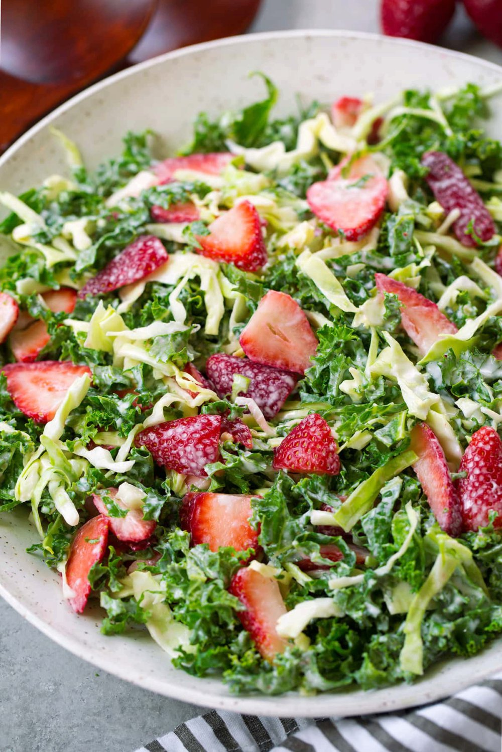 Strawberry Kale Coleslaw