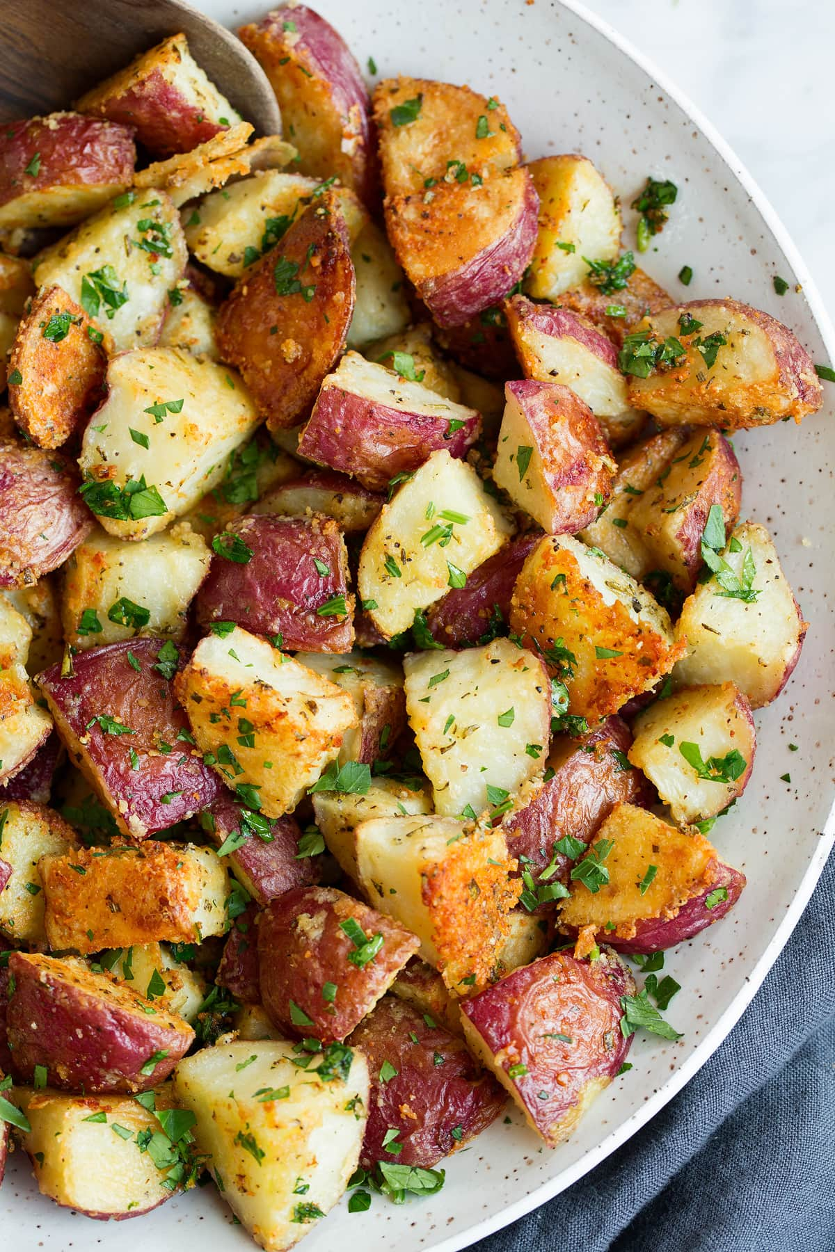 Roasted Potatoes with Parmesan Garlic and Herbs