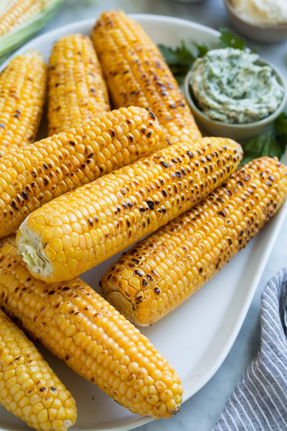 Grilled Corn on the Cob {+ 3 Flavored Butters}
