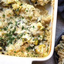 Quinoa Broccoli and Cheese Casserole