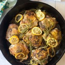 Perfect Herb Roasted Chicken Thighs