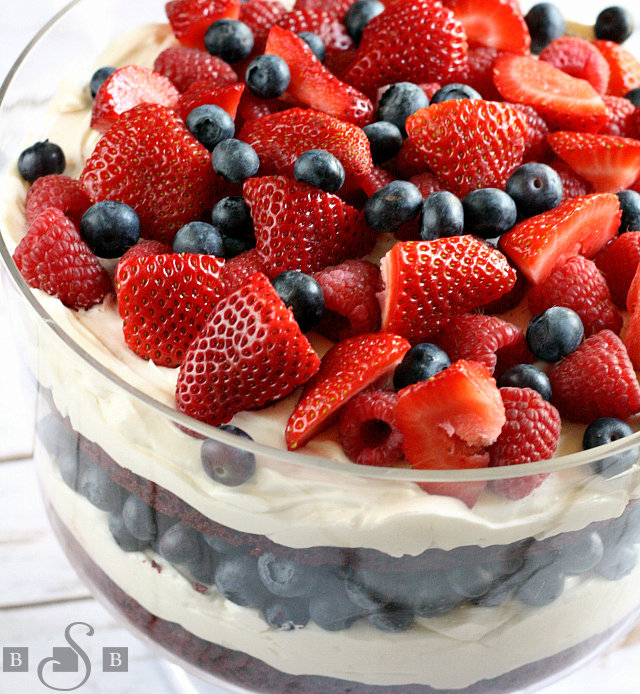 PATRIOTIC RED VELVET TRIFLE