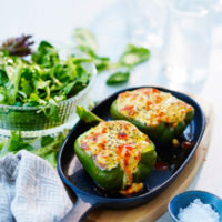 Feta cheese stuffed bell peppers